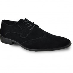'Roland' Wing-Tip Oxford in Black