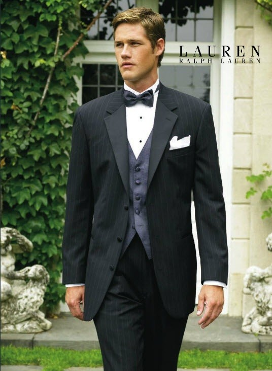 Starwood Pinstriped Tuxedo Jacket By Ralph Lauren