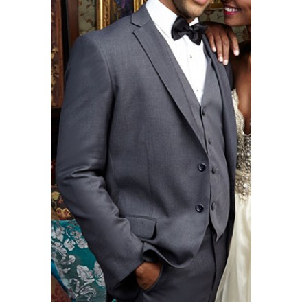 Aspen' Charcoal 2-Button Notch Wedding Suit Jacket