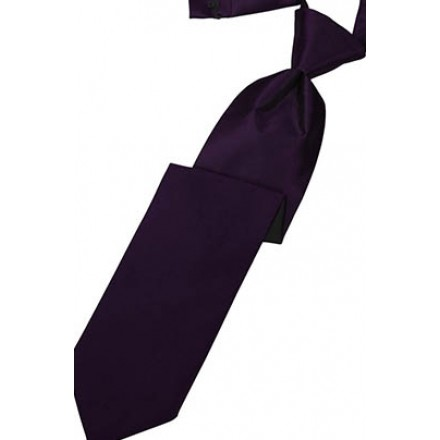 Amethyst Solid Satin Long Tie