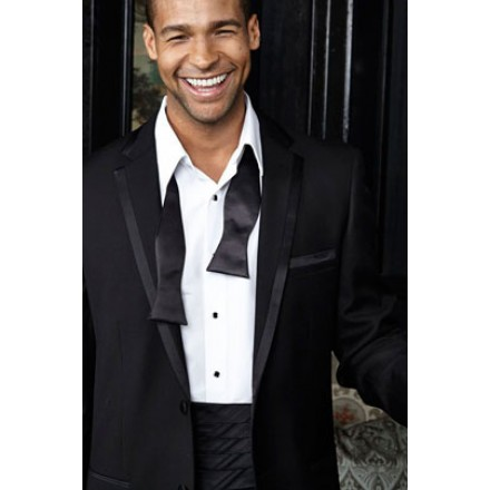 Edge tuxedo in black by cardi notch edge lapel for The tux builder