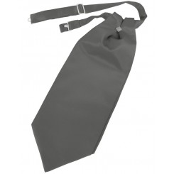 Charcoal Solid Satin Cravat