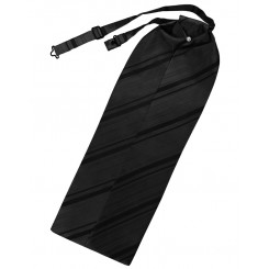 Black Striped Satin Ascot