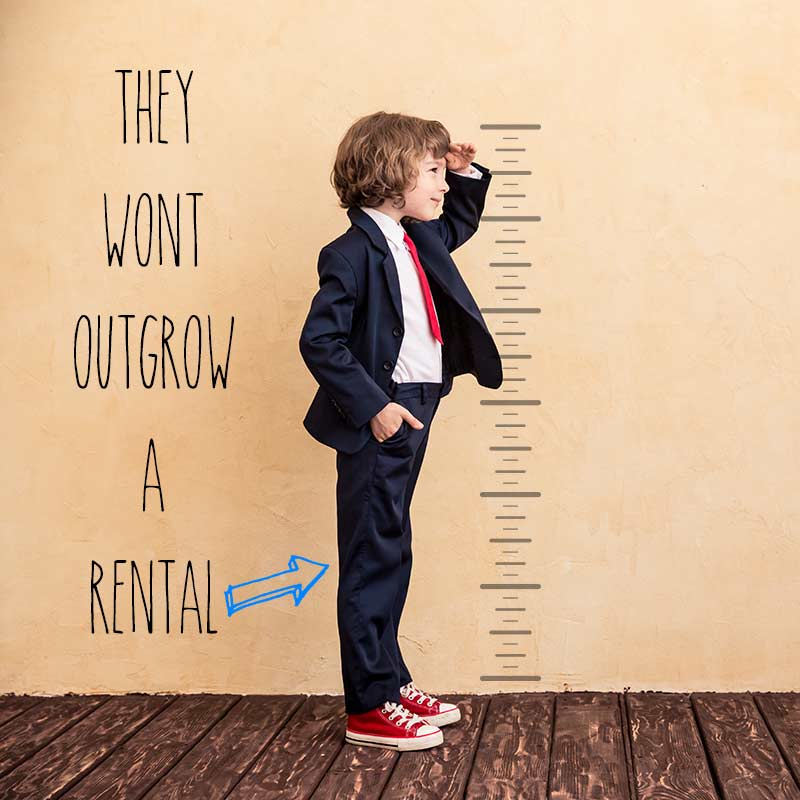 Boy's Can't Outgrow a Tuxedo or Suit Rental