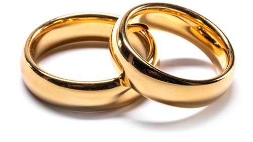 photo depicting two wedding rings
