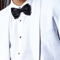 Shop White-Colored Rental Tuxedo Jackets