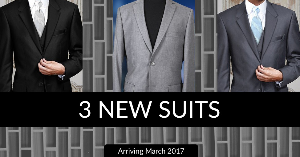 3 New 2-Buttuon Suits