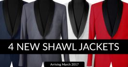 4 New Shawl Jackets Arriving in March